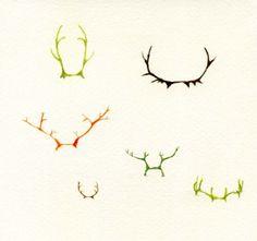 Antlers Print by rachaelanderson on Etsy
