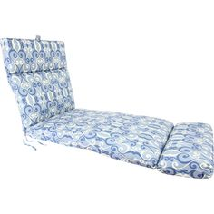 Mainstays Outdoor Chair Cushion Blue Floral Patio