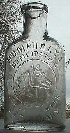 patent medidine bottle | Antique HUMPHREYS VETERINARY patent medicine bottle w/ pic of HORSE