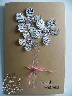 Tiddly Inks Challenge: Fabby Friday - Winners from Bookmark Challenge and Inspiration Cute Cards, Diy Cards, Tiddly Inks, Card Tags, Paper Cards, Flower Cards, Creative Cards, Greeting Cards Handmade, Scrapbook Cards