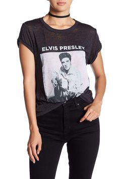 Elvis Short Sleeve Burnout Tee