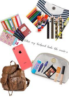 What's in my backpack-a Aa School, School Style, What's In My Backpack, Backpack Essentials, Best Stocking Stuffers, What In My Bag, School Shopping, School Organization, School Fashion