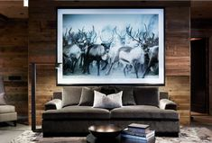 〚 Exquisite contemporary chalet in Norway 〛 ◾ Photos ◾Ideas◾ Design Chalet Chic, Chalet Style, Lodge Style, Modern Lodge, Modern Rustic Homes, Chalet Interior, Interior Design Living Room, Natural Bedroom, Cabin Interiors