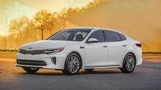 The 2016 Kia Optima is better than its game-changing predecessor in nearly every way—except it's a little less distinct. Find out why the 2016 Kia Optima is rated by The Car Connection experts. Kia Optima, Kia Motors, American Graffiti, Harrison Ford, Mid Size Sedan, 2016 Pictures, Thing 1, New Engine, Sports
