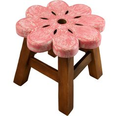 Wholesale Childrens pink flower stool - Something Different