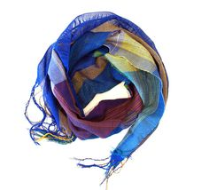 Klee, handwoven cotton scarf for spring – Amber Kane