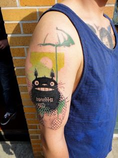 by Xoïl, Needles Side TattOo > great cartoonish character & use of colours to accent it.