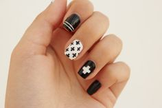 Curly Made: DIY Swiss Cross Nail Art