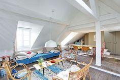 Un salon cosy et coloré