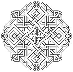 Sacred Geometry Coloring Page, Merkaba from