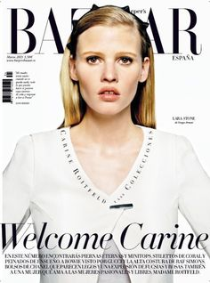 Lara Stone  Harpers Bazaar Magazine Cover [Spain] (March 2013)