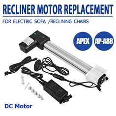 Mophorn APA88 Electric Recliner Motor DC Motor Okin Electric Recliner Motor for Lift Chair and Recliner Motor APA88 * Want extra details? Click on the image. (This is an affiliate link). Amazon Sofa, Linear Actuator, Power Recliners, Reclining Sofa, Massage Chair, Electric, Kit, Awesome, Check