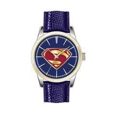 353e334f0e68f Justice League Movie Superman Logo Strap Watch