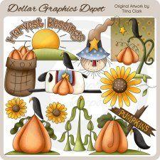 Harvest Blessings - Clip Art