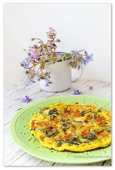 borage flower omelette - edible flowers