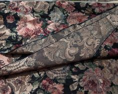 1 1/2 Yards of 58 Vintage Jacquard Print by CosmosCoolSupplies