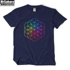 New Rock T Shirt Brand Tee Men's/Women's Coldplay Short Sleeve Men Women Print T-Shirt Tee #Affiliate