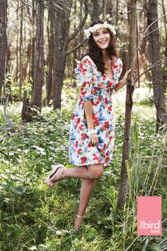 that bird label POLLY Waist Tie Dress Smartie Dot - Womens Knee Length Dresses - Birdsnest Australia Wrap Dress, Tie Dress, Shirt Dress, Women's Knee Length Dresses, Style Guides, Dresses Online, Personal Style, Cold Shoulder Dress, My Style