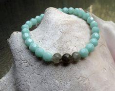 Ocean Collection  Swarovski Crystal & Labradorite Bracelet