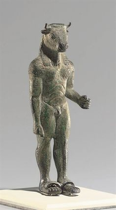 A GREEK BRONZE MINOTAUR ARCHAIC PERIOD, CIRCA 520-500 B.C.