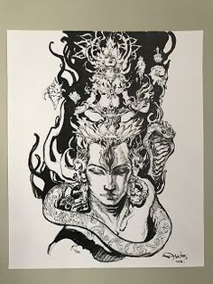 Abhishek Singh: April 26th-2018. Shiva Hindu, Shiva Art, Shiva Shakti, Hindu Deities, Hindu Art, Krishna, Kali Tattoo, Shiva Tattoo Design, Budist Tattoo