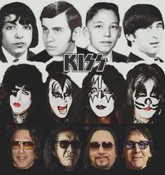 The Happy Hippie Kiss Band, Kiss Rock Bands, Rock And Roll, Rock N Roll Music, Rock Chic, Glam Rock, Kiss Musik, Kiss Album Covers, 80s Heavy Metal