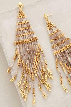 Luminescent Fringe Earrings - anthropologie.com