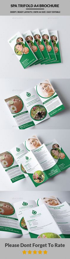 Beauty  Spa Trifold Brochure Psd Template  Psd Templates Print