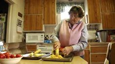 In her 80's, still growing food and putting it up…Home Economics: Living Off the Farm. Watch the video: https://cookingupastory.com/home-economics-living-off-the-farm
