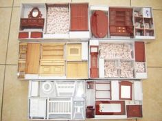 6, Dolls house furniture sets, FREE DELIVERY