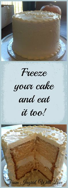 How to Freeze Your Wedding Cake