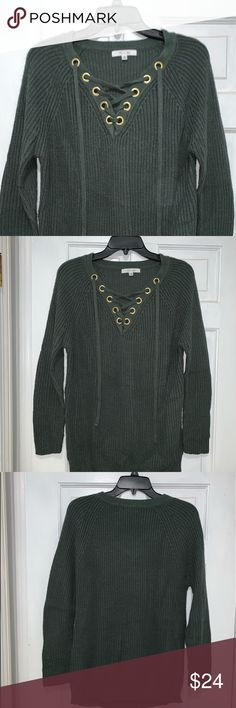Cable & Gauge Velour Sweater NWT