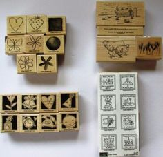 Lot-of-4-Stampin-Up-Stamp-Sets-Retired-Rare