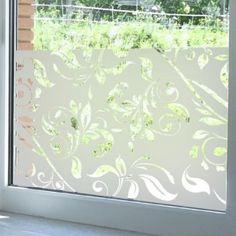Sticker occultant pour vitres et fen tres motif vague - Film pour baie vitree ...