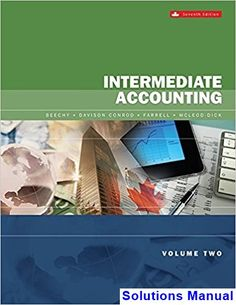50 best solutions manual download images on pinterest in 2018 intermediate accounting volume 2 canadian 7th edition beechy solutions manual test bank solutions manual fandeluxe Choice Image