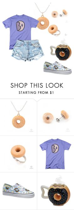 """""""i just want donuts"""" by boomershinee ❤ liked on Polyvore featuring Vans"""