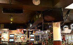 27 ekranów w restauracji Champs... Emocjonująco ;) #tv #restaurant #sport