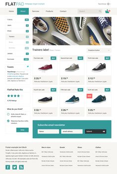 FlatPad Online Shop PSD template by Repix Design, via Behance