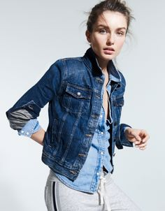 Who doesn't love denim?! You can find this jacket at J. Crew, and you can ship it with Shweebo, right to your front door! www.shweebo.com