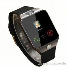 c566a8c74d8 Loja Virtual Cabanascuba · Relógios e Smartwatch · Relógio Inteligente  Bluetooth Android 1 Chip Smart Watch Desbloqueado