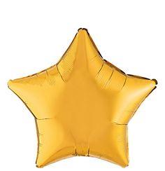 Gold Star Balloon - Go Party Fiesta