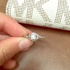 "Promise ring/engagement- from Kay's 1/6 cut tw diamonds / sterling silver / ""HEARTessence Ring"" Kay Jewelers Accessories"