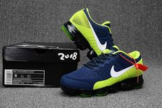 quality design 4d7c3 95c10 New Nike Air VaporMax 2018 KPU Fluorescent Green Navy Blue Men Nike Air Max  Mens,