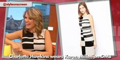 Charlotte Hawkins wears a black and white striped dress from Karen Millen on Good Morning Britain! Black White Striped Dress, Black White Stripes, Black And White, Charlotte Hawkins, Good Morning Britain, Karen Millen, How To Wear, Dresses, Style