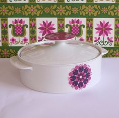 #weloveceramics ... and a bit of pink ... Winter's Moon — Vintage Thomas of Germany Sunflower Tureen