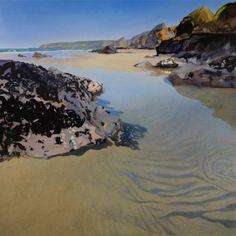 Bob Rudd Beach Landscape, Watercolor Landscape, Landscape Art, Landscape Paintings, Watercolor Paintings, Watercolours, Fantasy Paintings, Seascape Paintings, Cool Paintings