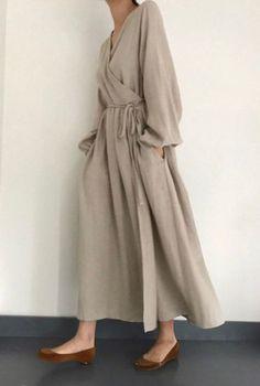 Maxi Dress Summer, Maxi Wrap Dress, Spring Dresses, Boho Dress, Hijab Outfit, Outfits Dress, Hijab Dress, Modest Fashion, Hijab Fashion