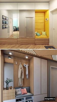 139 stylish wardrobe design ideas you can copy right now -page 23 > Homemytri. Wardrobe Door Designs, Wardrobe Design Bedroom, Hall Wardrobe, Modern Wardrobe, Home Entrance Decor, House Entrance, Home Decor, Entrance Hall, Hallway Furniture