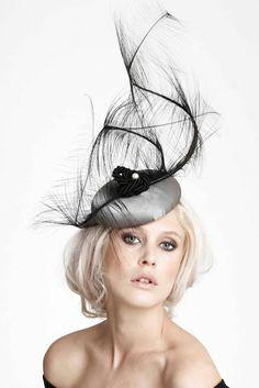 Olivia Roat Millinery | Silver Spun | Black and Pill Box Hats | LOVEHATS.COM
