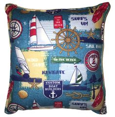 Vela barco almohada nórdico Pillow Linda franela suave
